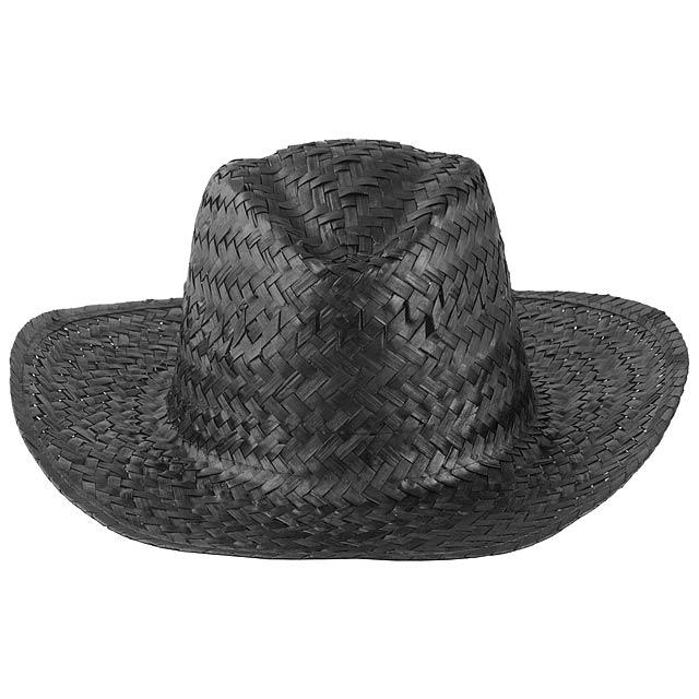 Splash slaměný klobouk - černá