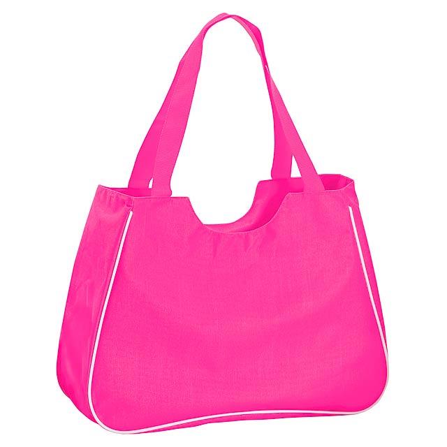 Maxi plážová taška - fuchsiová (tm. růžová)