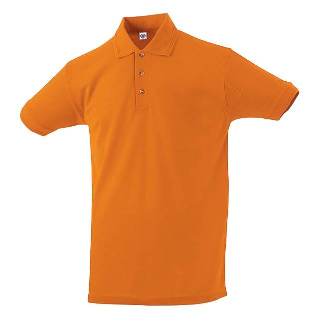 Polokošile z bavlny a polyesteru, 180 g/m². - oranžová - foto