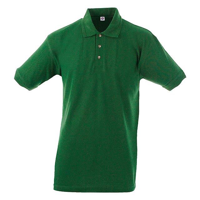 Polokošile z bavlny a polyesteru, 180 g/m². - zelená - foto