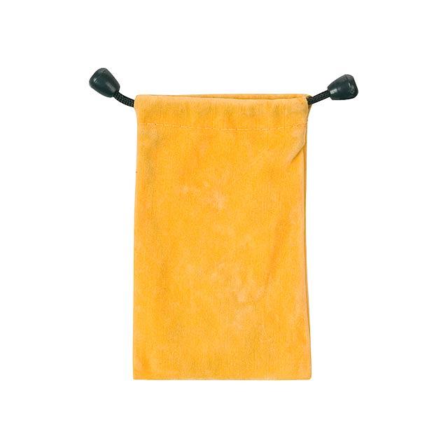 Mirka pouzdro na mobilní telefon - žlutá