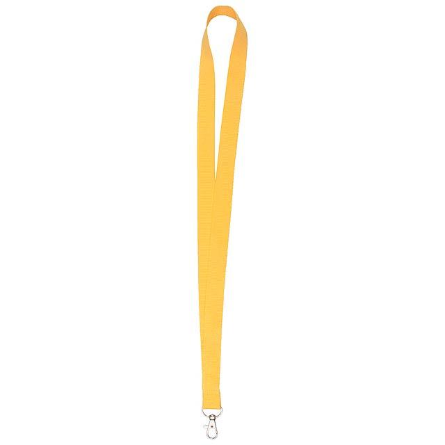 Neck lanyard - žlutá