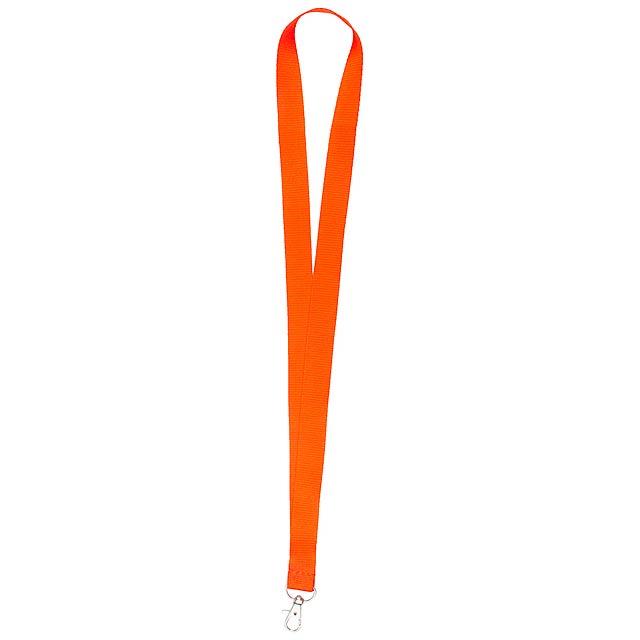 Neck lanyard - oranžová