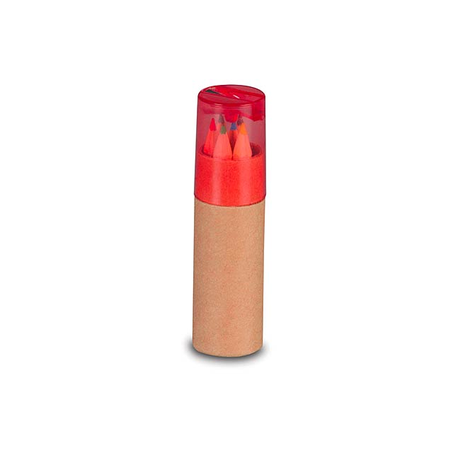 Baby pastelky v tubě - červená