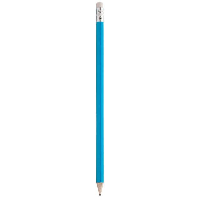 Bleistift mit Radiergummi - blau