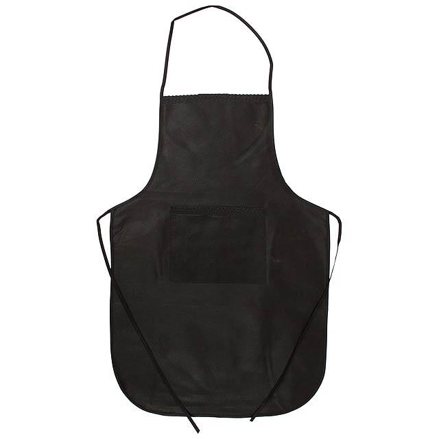 Chef kuchyňská zástěra - černá