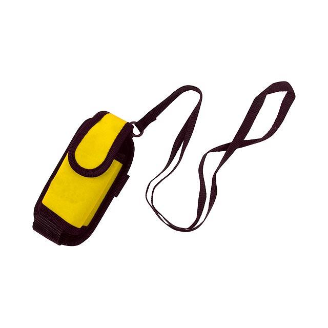 Misu pouzdro na mobilní telefon - žlutá