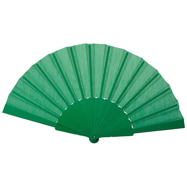 Tela vějíř - zelená
