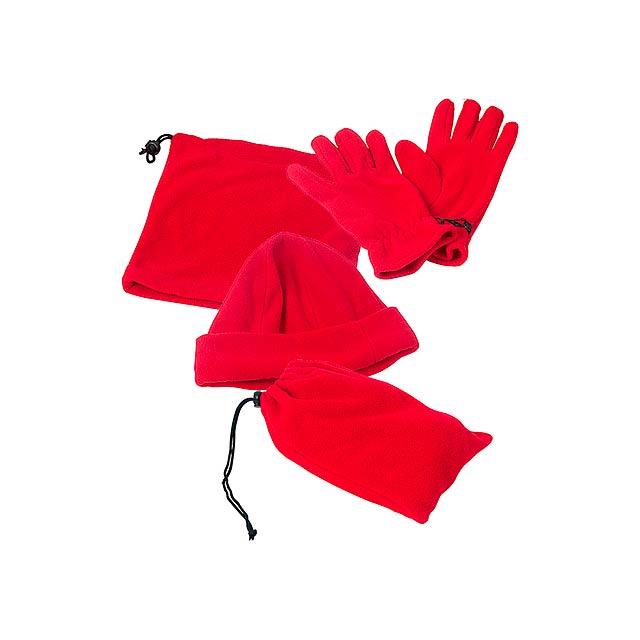 Pirena zimní set - červená
