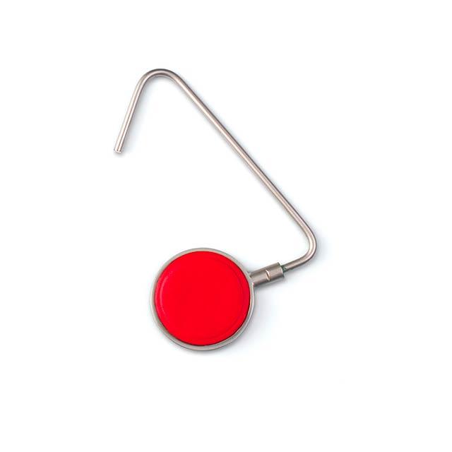 Lindsay držáček na tašku - červená