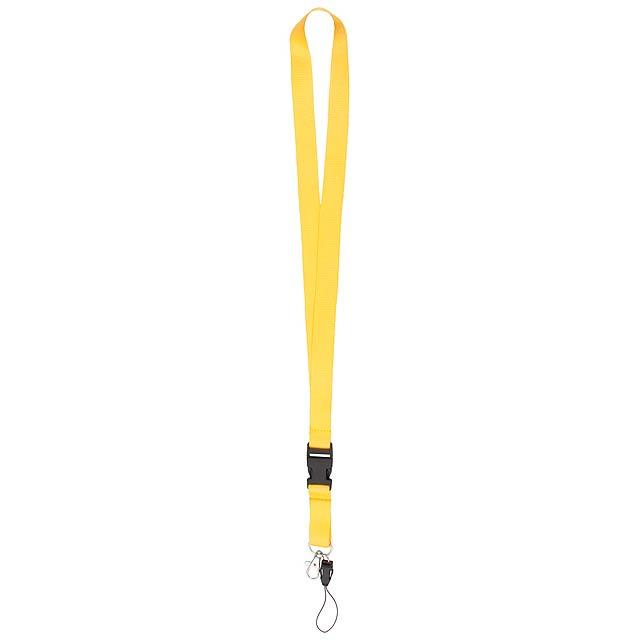Duble lanyard - žlutá