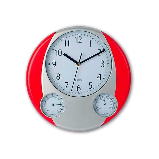 Prego nástěnné hodiny - červená
