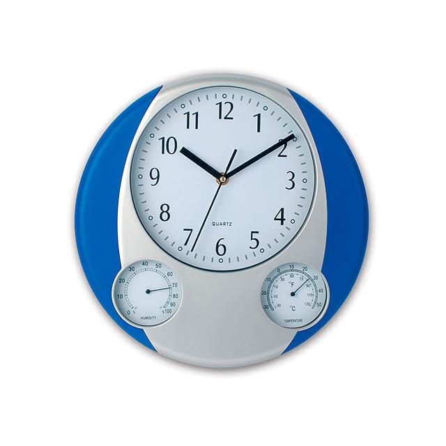 Prego nástěnné hodiny - modrá