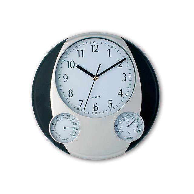 Prego nástěnné hodiny - čierna