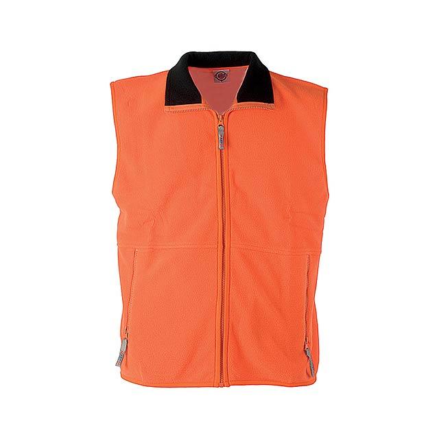 Forest vesta fleece - 260 g - oranžová