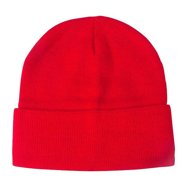 Lana zimní čepice - červená