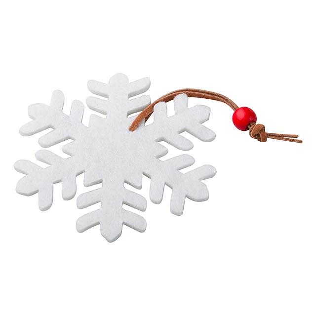 Fantasy vánoční figurka, sněhová vločka - multicolor