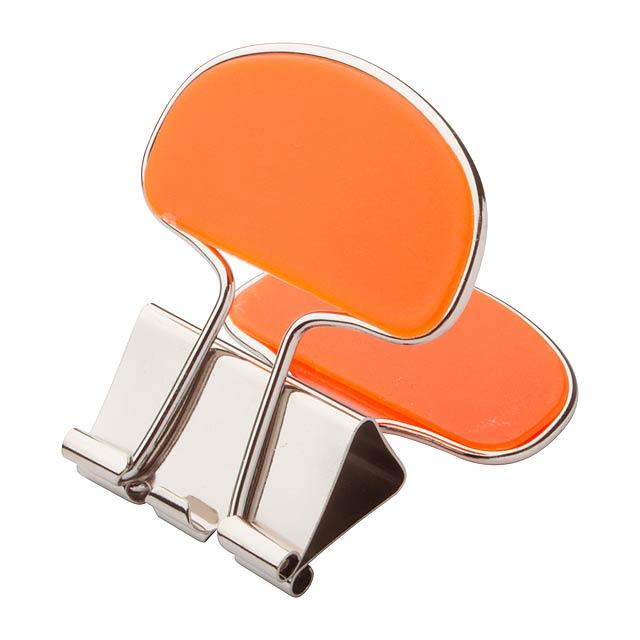 Doc držák na poznámky - oranžová