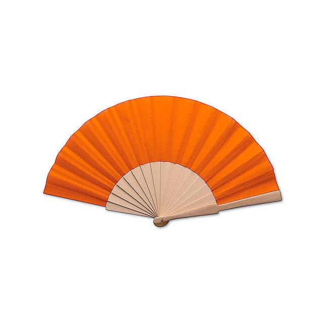 Folklore vějíř - oranžová