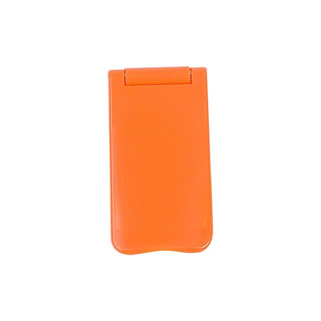 Keni stojánek na mobil se zrcátkem - oranžová