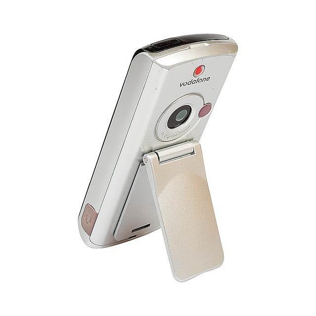 Keni stojánek na mobil se zrcátkem - stříbrná