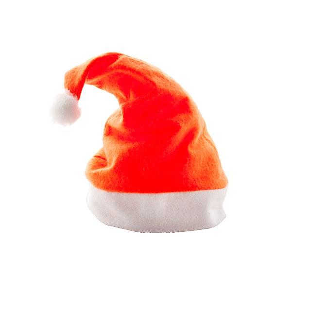 Papa Noel Santa Klausovská čepice - oranžová