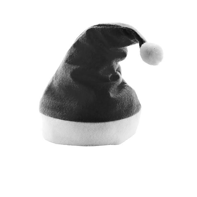 Papa Noel Santa Klausovská čepice - čierna