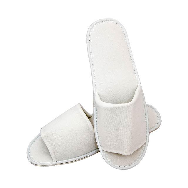 Gemex pantofle - bílá