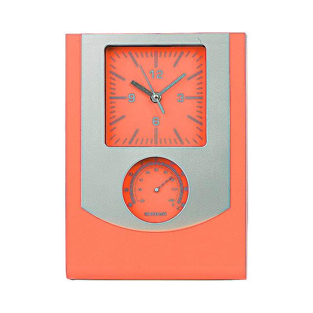 Technis nástěnné hodiny - oranžová
