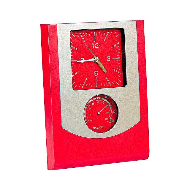Technis nástěnné hodiny - červená