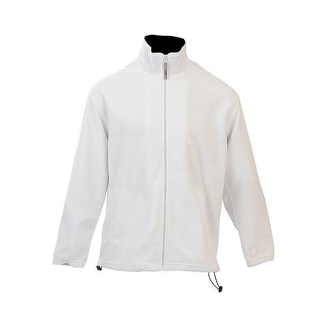 Siberia mikina fleece - bílá