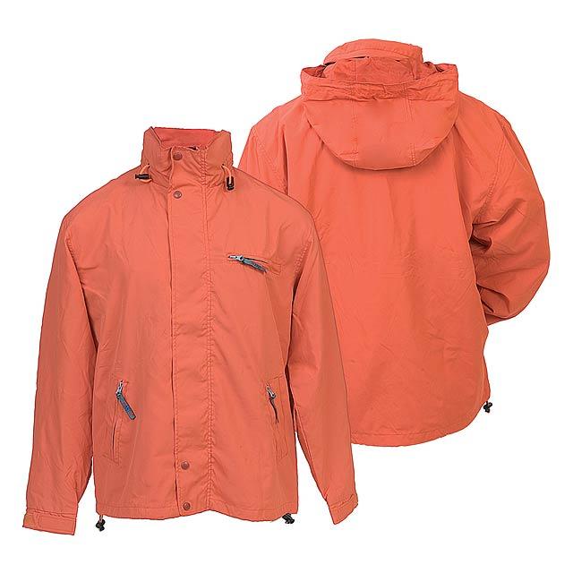 Canada bunda s kapucí - oranžová
