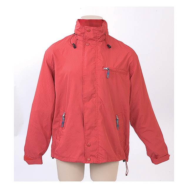 Canada bunda s kapucí - červená