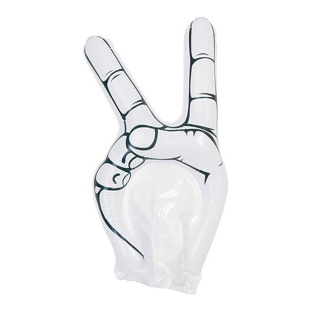 Hogan fandící ruka - bílá