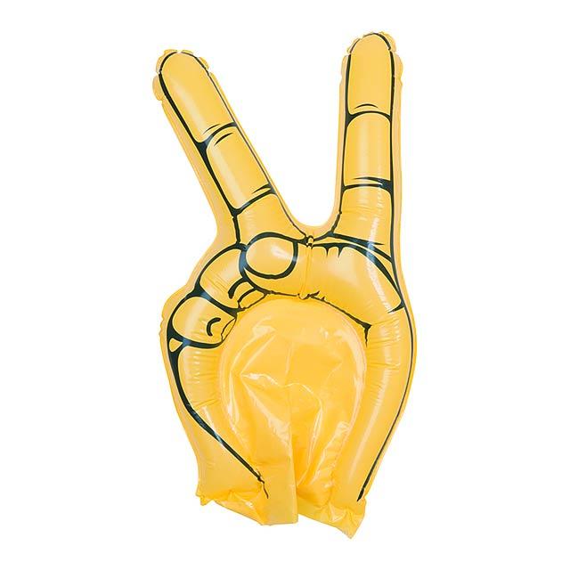 Hogan fandící ruka - žlutá