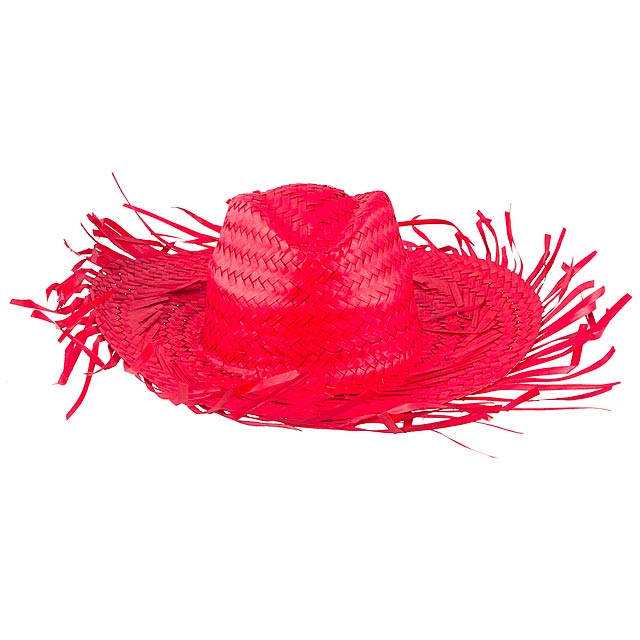 Filagarchado slaměný klobouk - červená