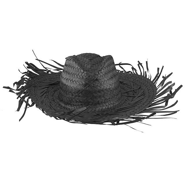 Filagarchado slaměný klobouk - černá