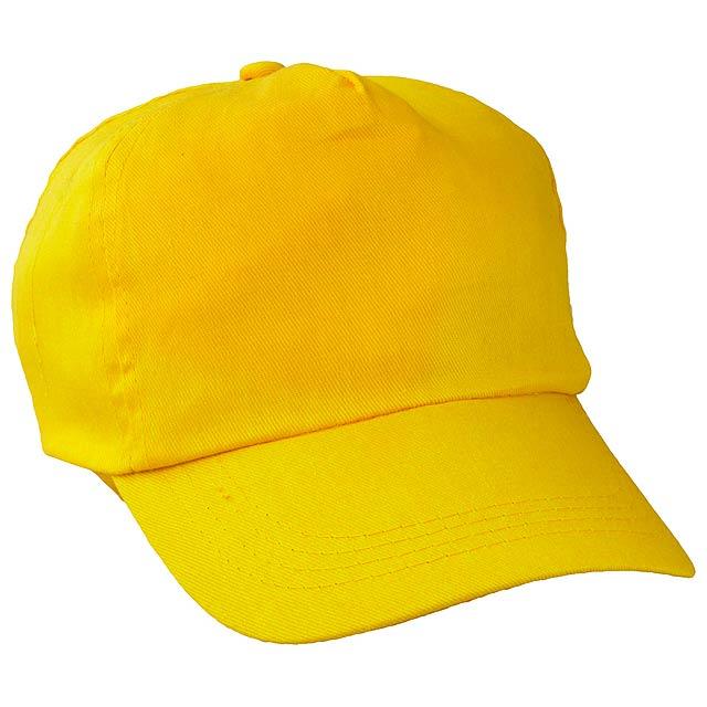 Sport baseballová čepice - žlutá