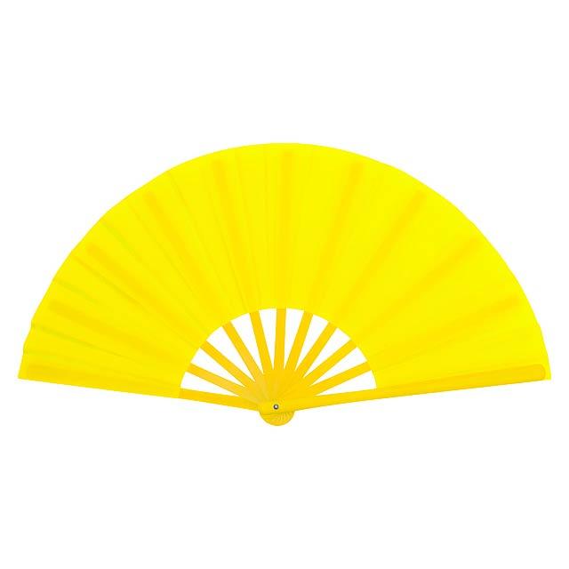 Tetex vějíř - žlutá