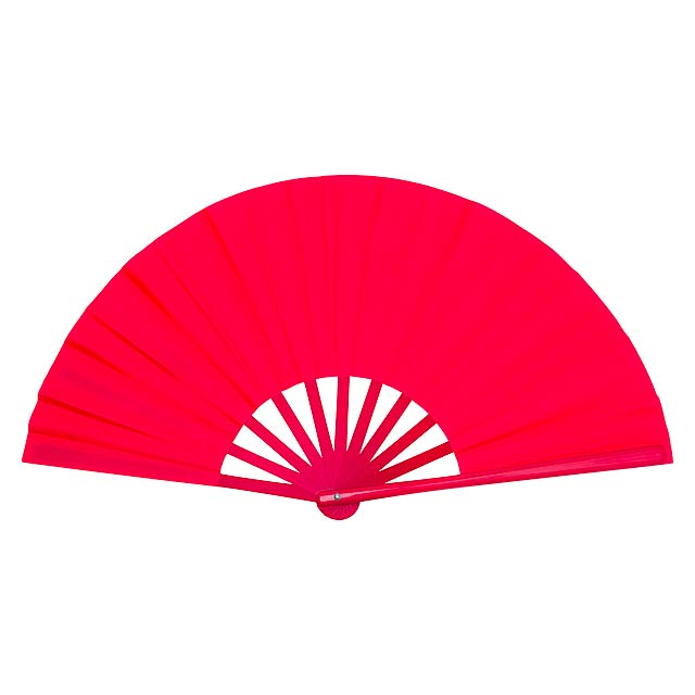 Tetex vějíř - červená