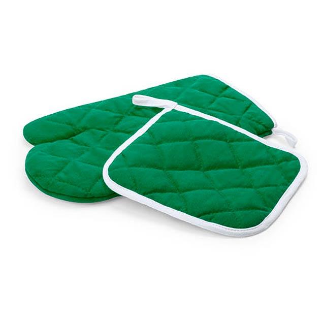 Leston sada chňapek - zelená