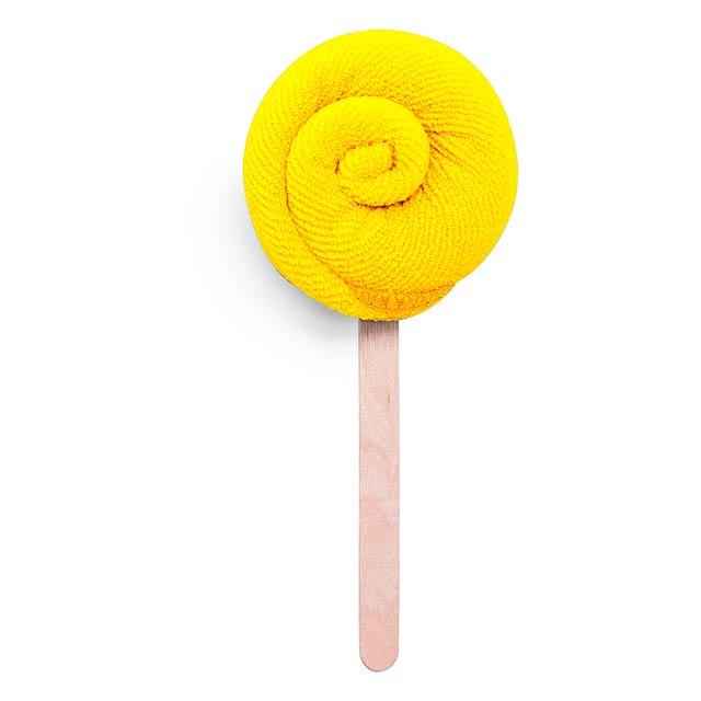 Nalex savý ručník - žlutá