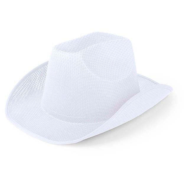 Osdel klobouk - bílá