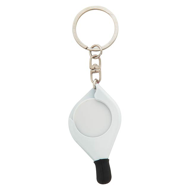 Frits přívěšek na klíče se žetonem - bílá