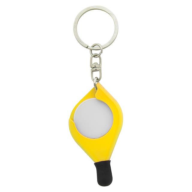 Frits přívěšek na klíče se žetonem - žlutá
