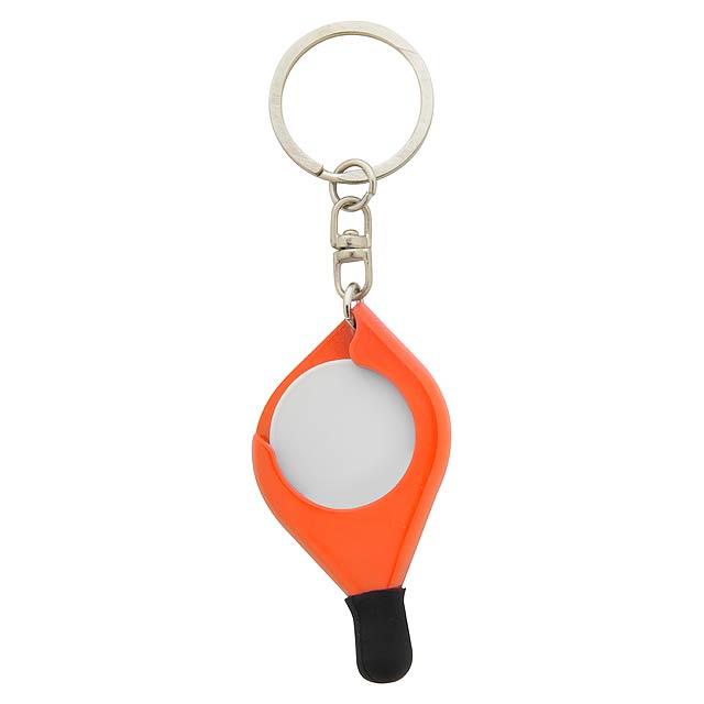 Frits přívěšek na klíče se žetonem - oranžová