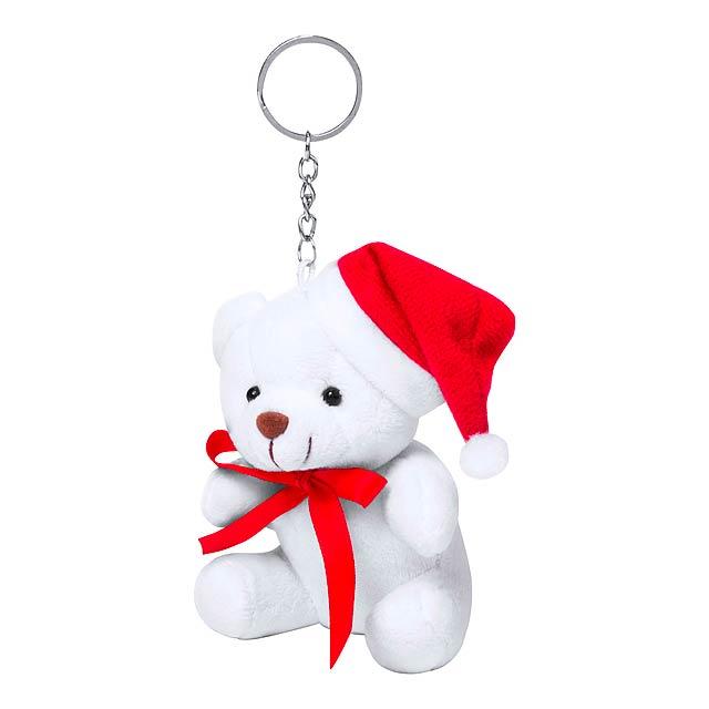 Glenda přívěšek na klíče s medvídkem - bílá