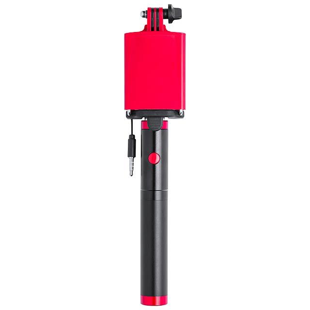 Slatham selfie tyčka s power bankou - červená