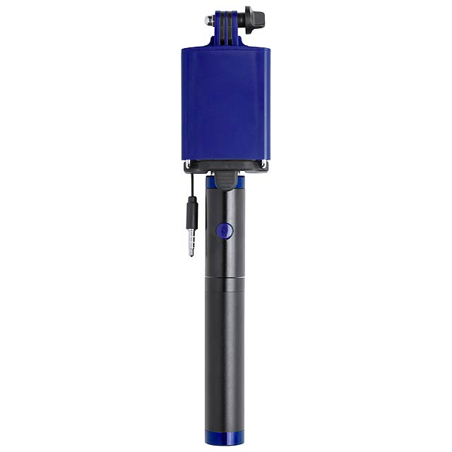 Slatham selfie tyčka s power bankou - modrá