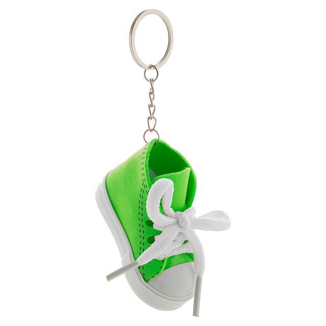 Přívěšek na klíče ve tvaru tenisky, materiál EVA/PVC. - zelená - foto